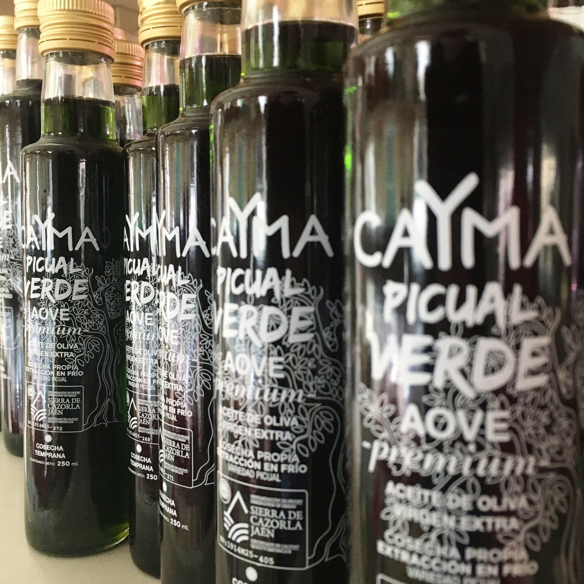 AOVE caYma verde picual aceite oliva virgen extra